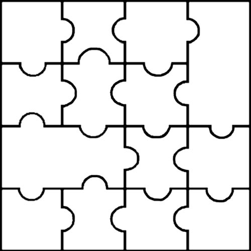 Download Printable Puzzle Pieces Template Clipart Jigsaw Puzzles Coloring Book