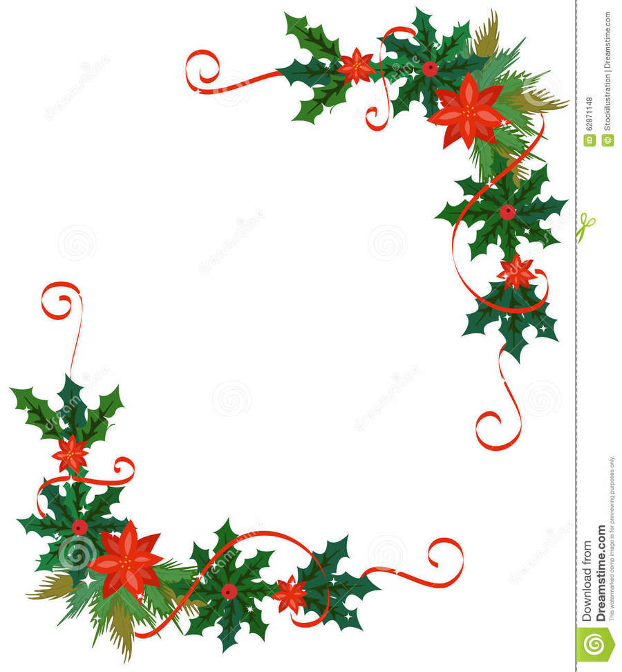 Illustration holiday flower leaf christmas tree for Clipart natale free download