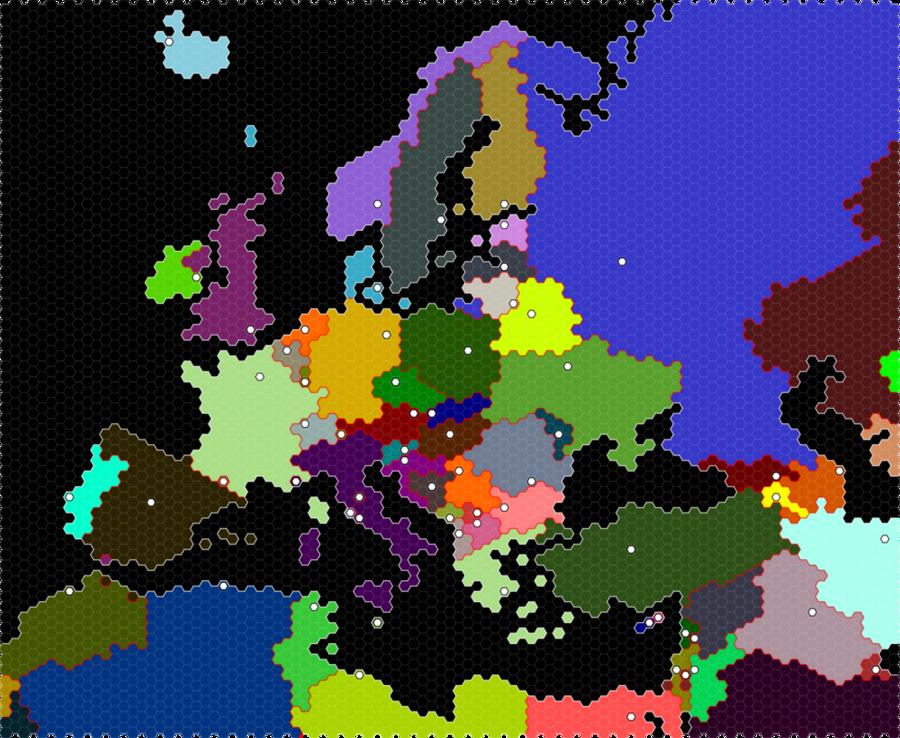 europe bitmap clipart Europe Hex map Hexagontransparent png image