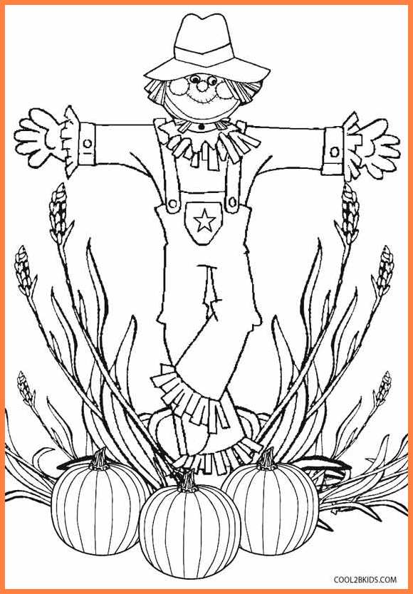 free thanksgiving coloring pages to print mandala amp scarecrow - 566×820