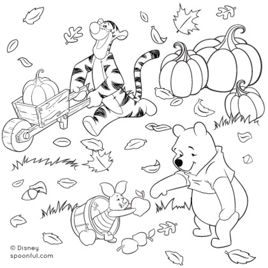 Download winnie the pooh fall coloring pages clipart for Winnie the pooh fall coloring pages