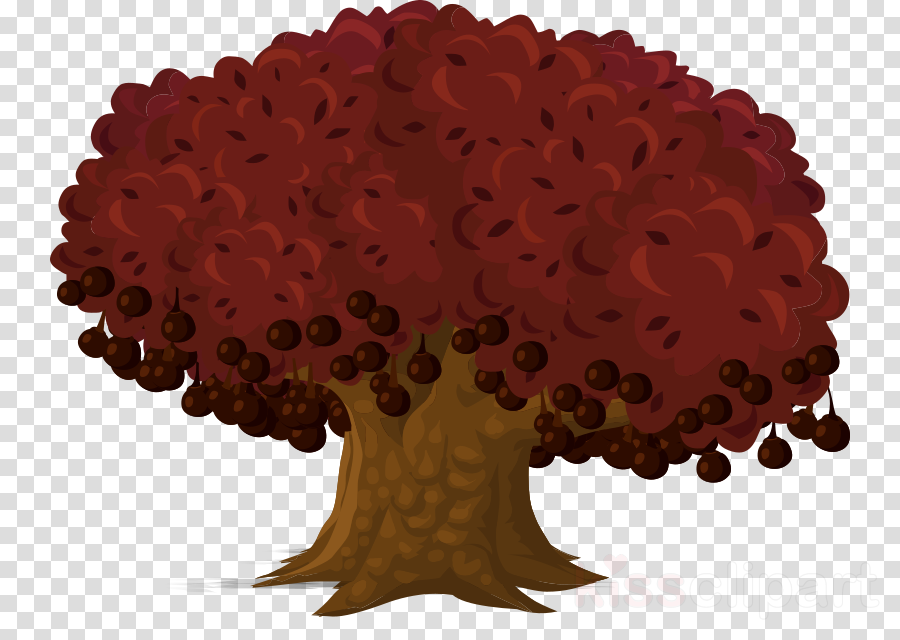 red tree cartoon clipart Tree Clip art