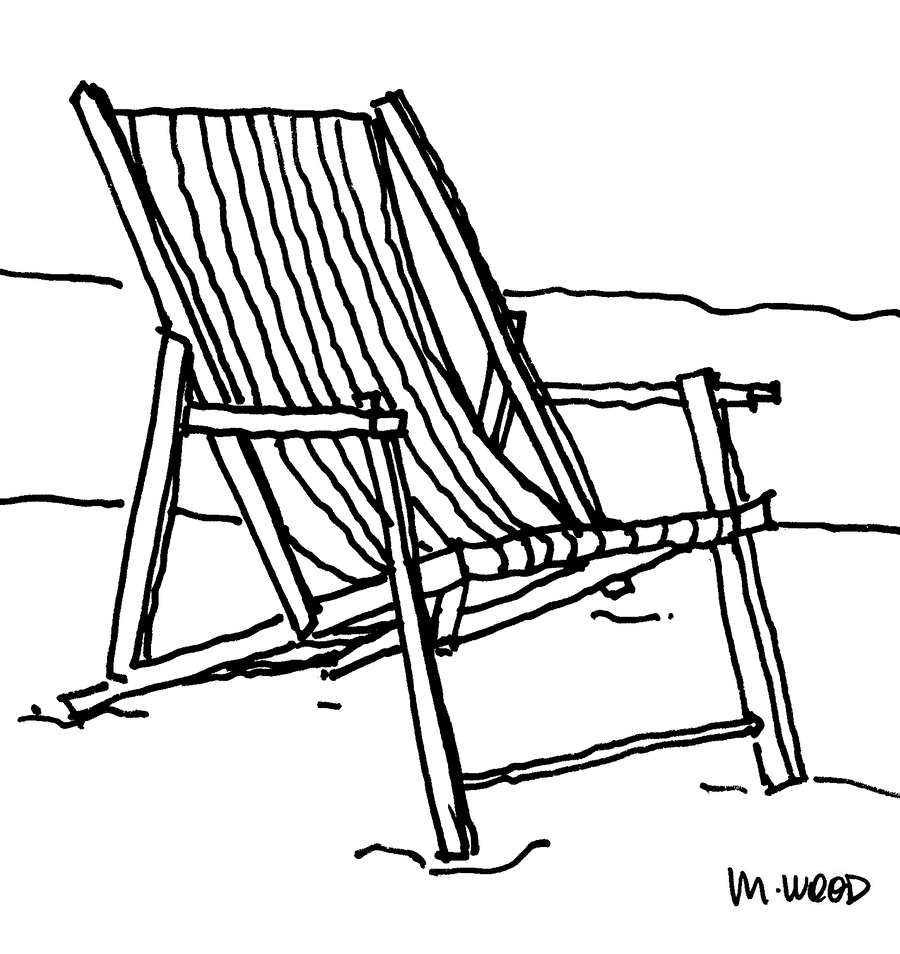 Beach Chair Coloring Pages Clipart Table Clip Art