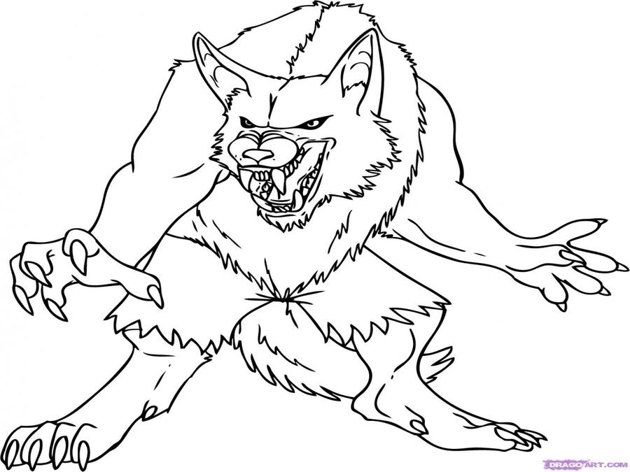Download hombre lobo para colorear clipart Werewolf Coloring book ...