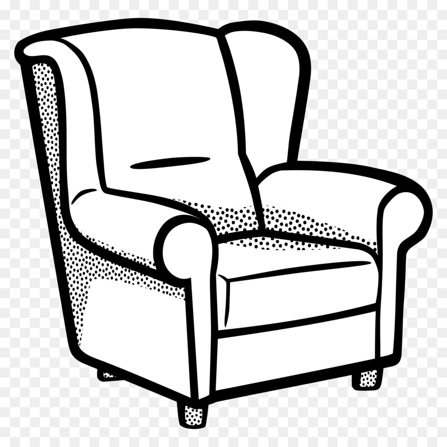 Table Cartoon Clipart Couch Furniture Chair Transparent
