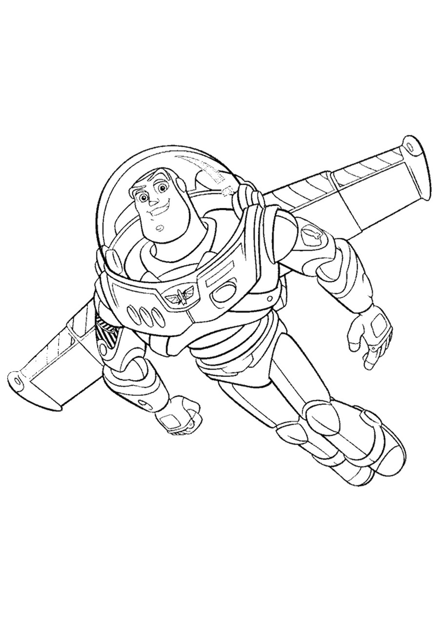 Toy Story Coloring Page Clipart Buzz Lightyear Sheriff Woody Jessie