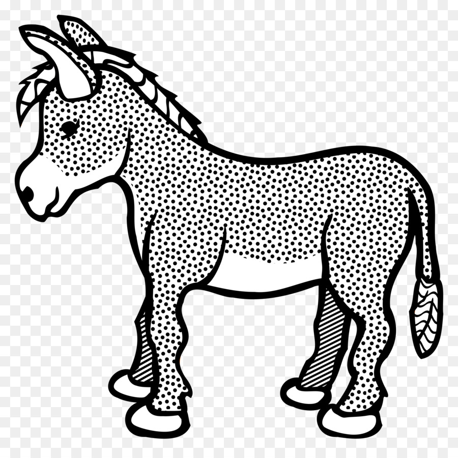 Christmas Horse Drawing.Christmas Black And White Clipart Drawing White Horse