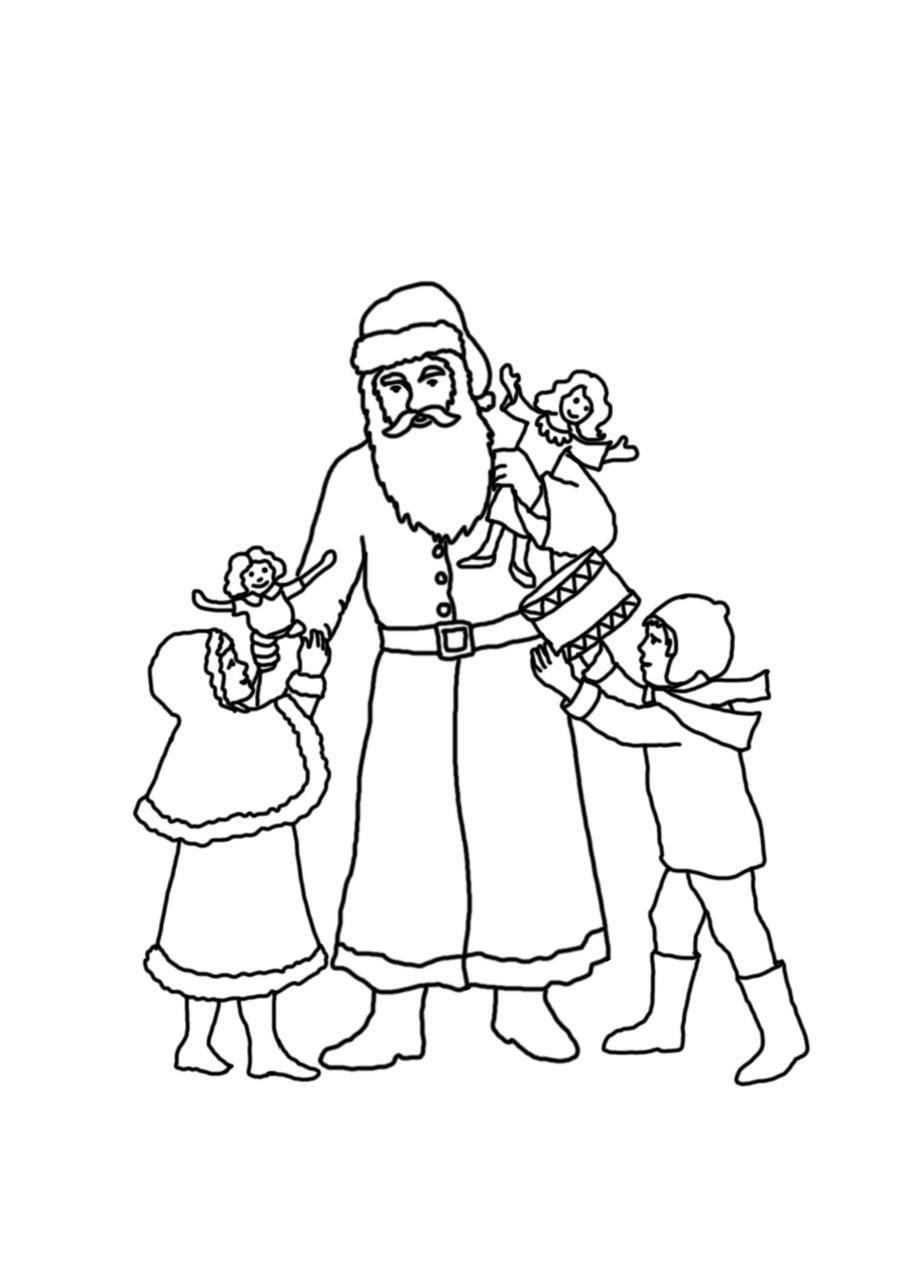 Download Santa Claus clipart Santa Claus Christmas Coloring Pages ...