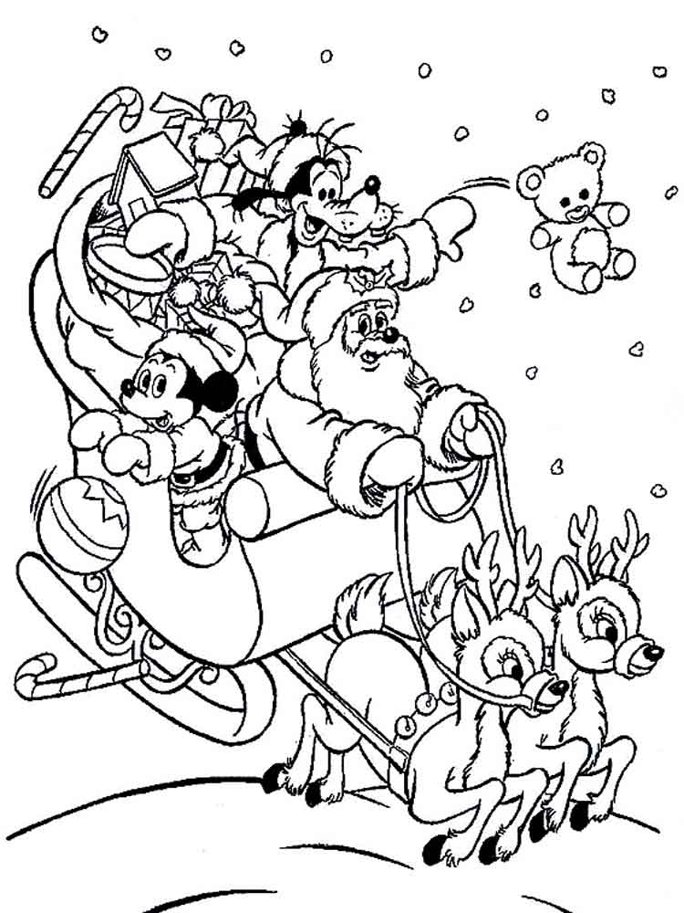 Download navidad con mickey mouse para colorear clipart Mickey Mouse ...