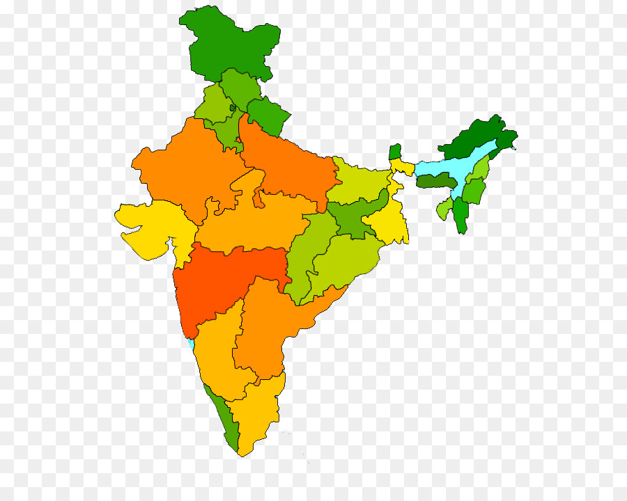 india map colour clipart States of India