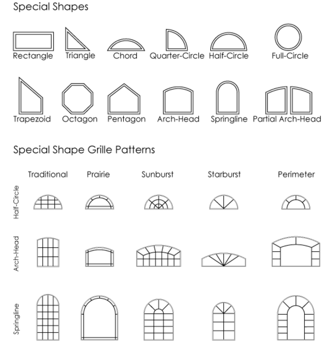 Window Shapes And Styles Clipart Shape Shutters