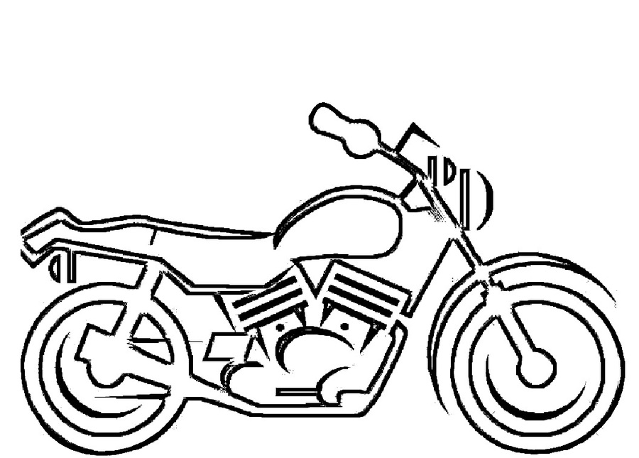 Download printable motorcycle clipart Motorcycle Coloring book ...