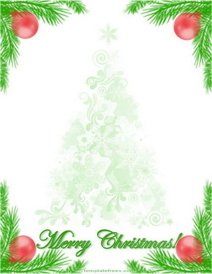 paper letter document gift holiday letterhead green tree