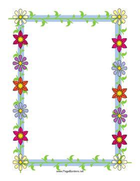 Borders for word monza berglauf. Flower microsoft template flowers