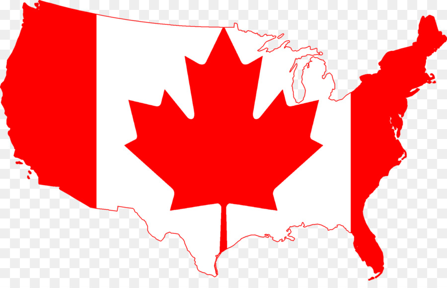 Download canada map outline flag clipart Flag of Canada United ...