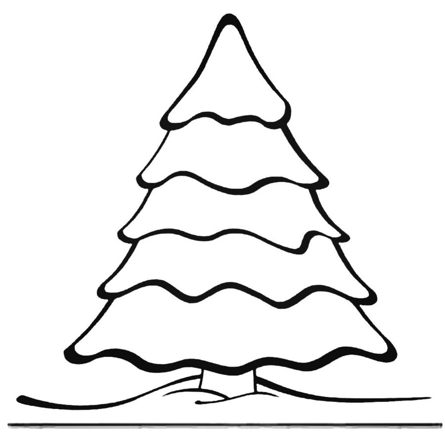 christmas tree coloring pages clipart coloring book cute colouring colouring pages