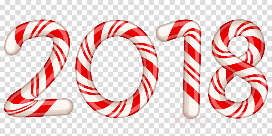 2018 candy cane transparent clipart Candy cane Clip art