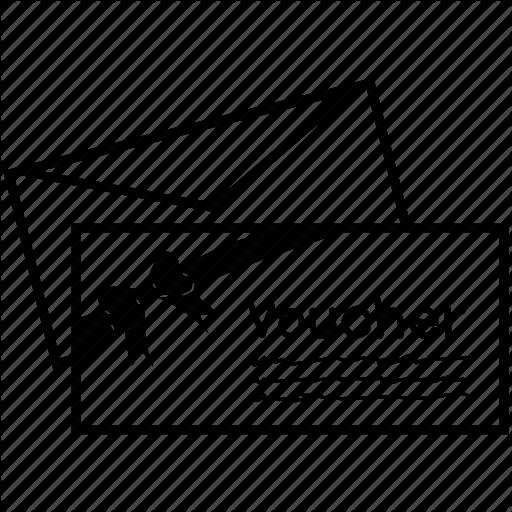 Voucher Gift Coupon Text Black Font Cartoon Diagram Line