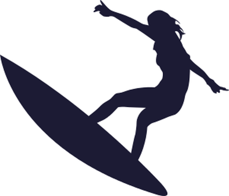 silhouette surfer clipart Surfing Wall decal Surfboard
