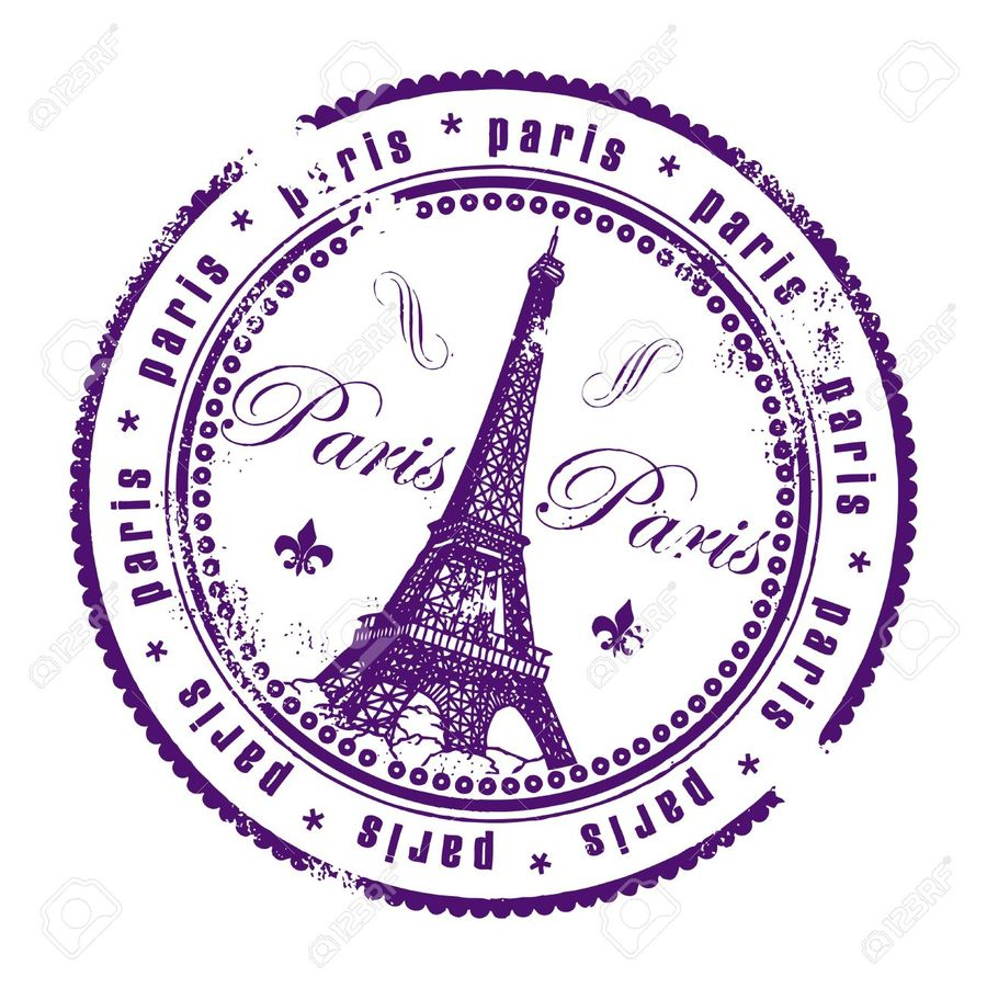 France Passport Stamp Clipart Paris United States Of America
