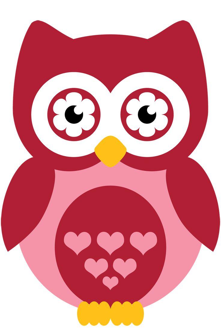 cute owl clip art - 736×1110