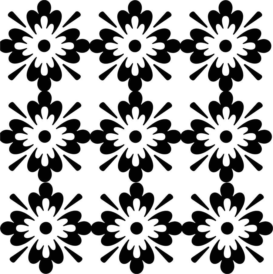 Download Clip Art Black And White Patterns Clipart Floral Design