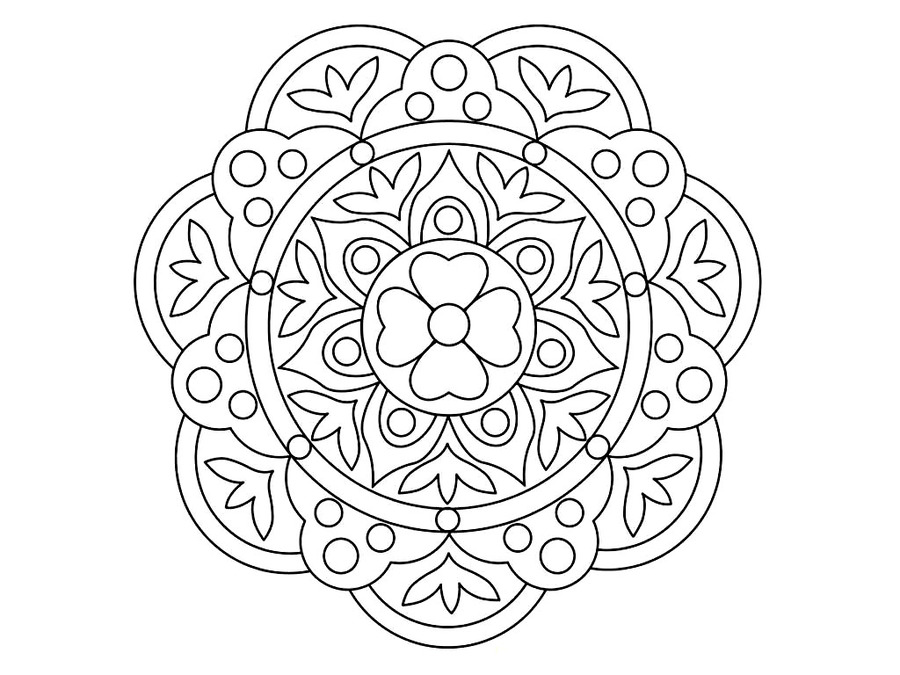 Download rangoli coloring pages clipart Colouring Pages Rangoli ...