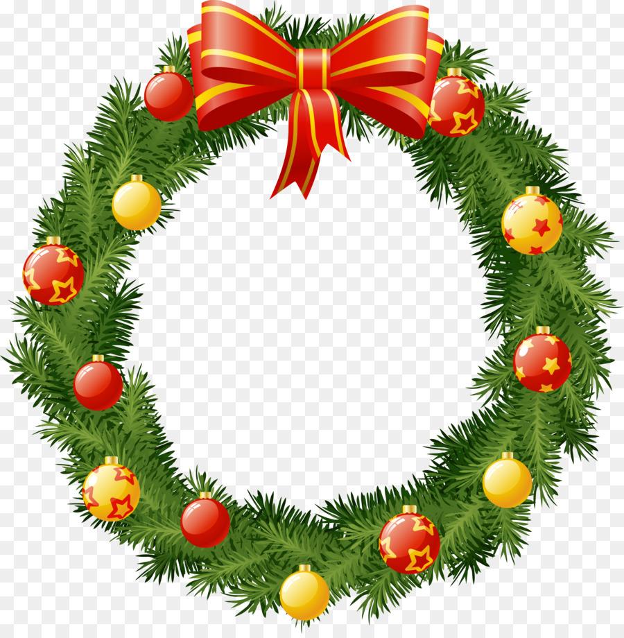 Christmas Decoration Cartoon Clipart Wreath Christmas Transparent Clip Art