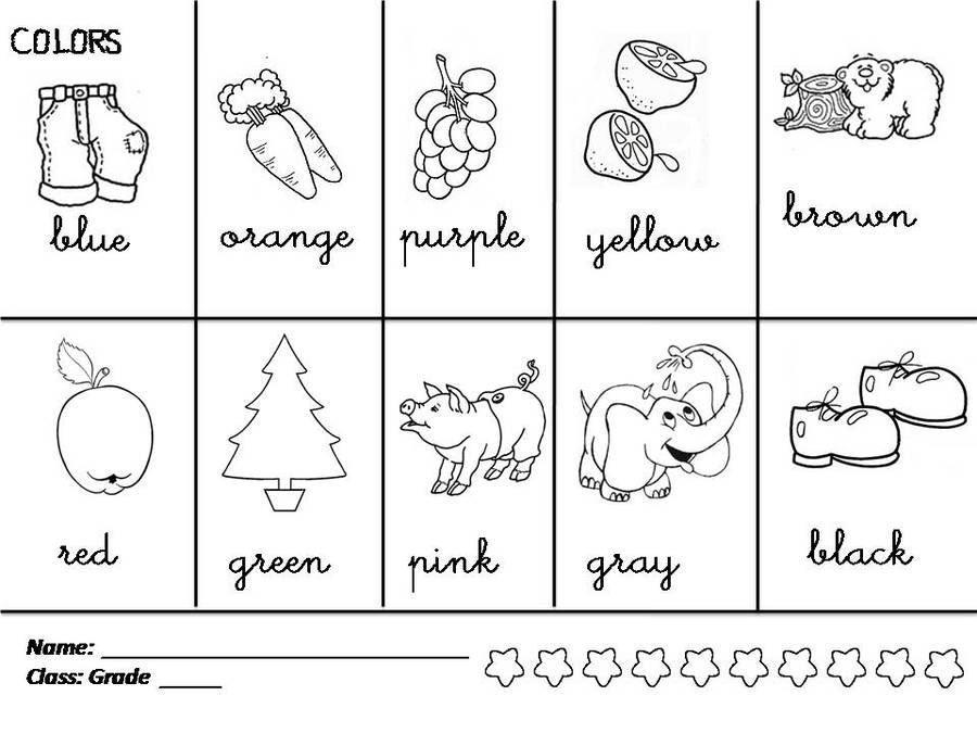Download colors worksheet for grade 1 clipart First grade Coloring ...