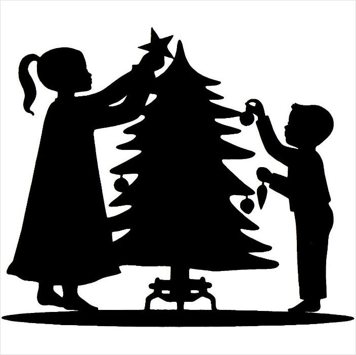 Download christmas silhouette clipart Santa Claus Christmas Day Clip ...