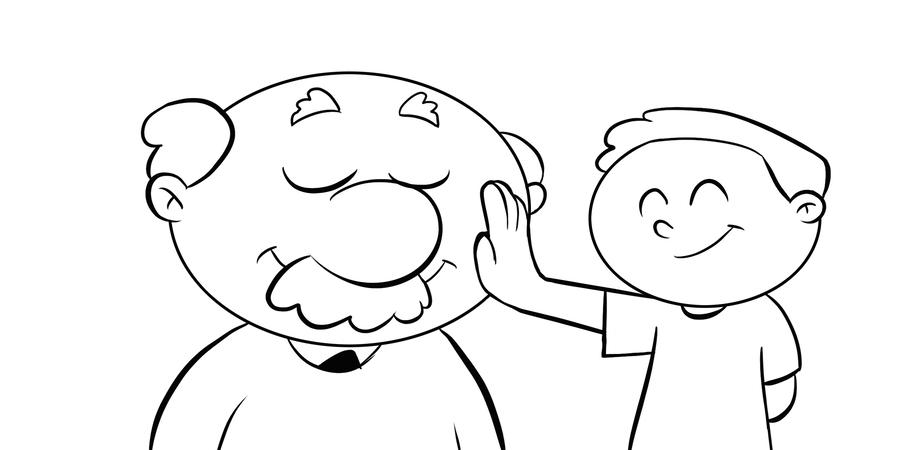 Download dibujo de abuelo para colorear clipart Grandparent Drawing ...