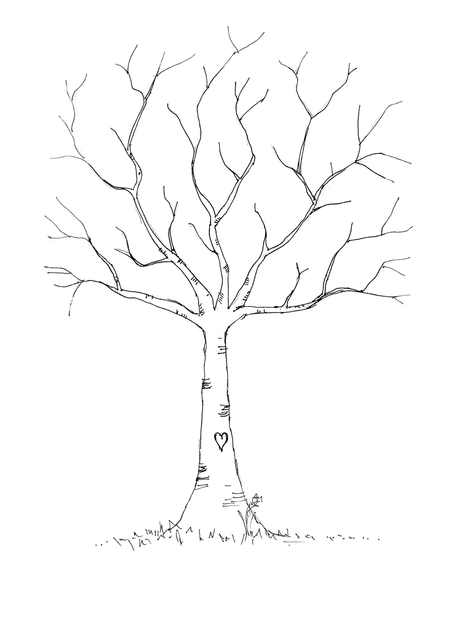 Download Fingerprint Tree Template Clipart Guestbook Plant Leaf