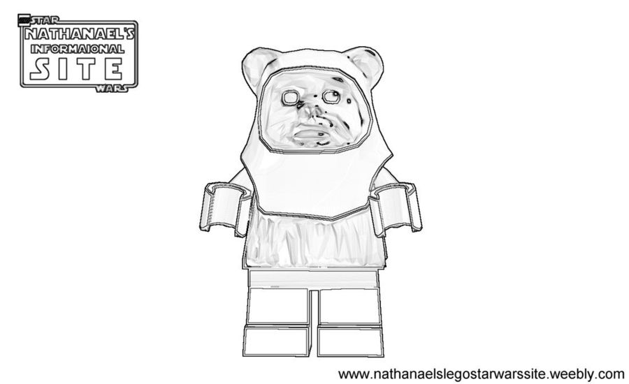 Download Lego Ewok Coloring Pages Clipart Wicket W Warrick Anakin Skywalker Star Wars The Force Awakens Dog White Black