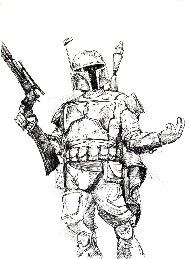 Star Wars Boba Fett Coloring Pages Clipart Jango Angry Birds