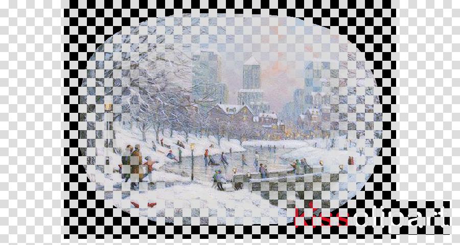 kerstplaatjes clipart Winter Landscape