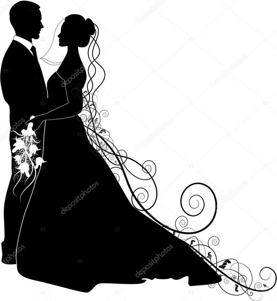 bride wedding illustration graphics woman man dress