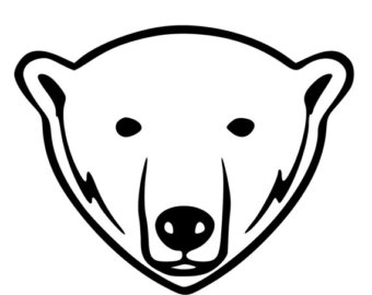 bear drawing sketch cartoon face white black head smile