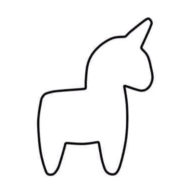 Download unicorn template kids clipart Unicorn Stencil