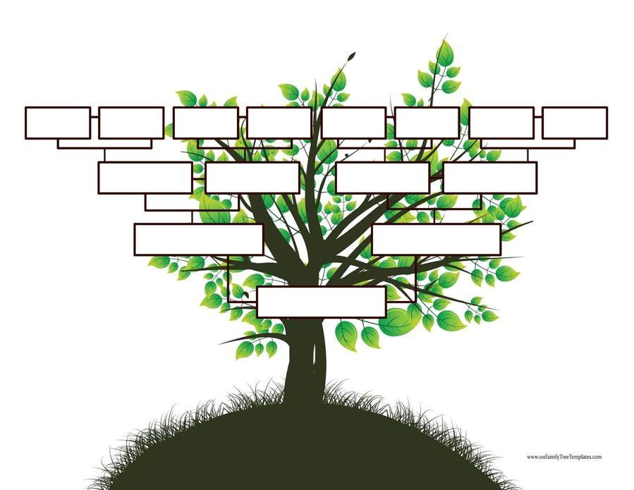 Download 4 Generations Blank Family Tree Clipart Family Tree