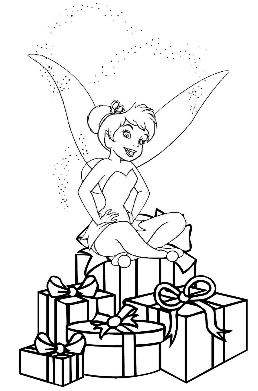 tinkerbell christmas coloring pages clipart tinker bell christmas coloring pages colouring pages