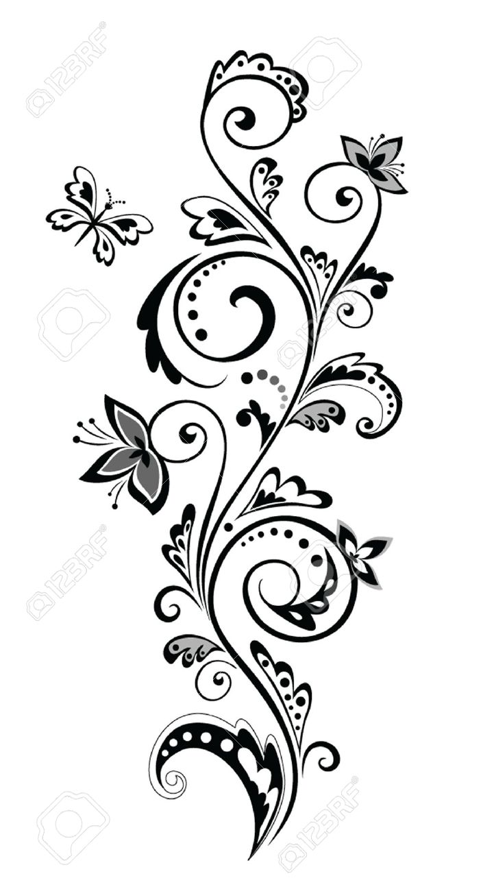 Flower Border Clip Art Black And White Free Flowers Healthy