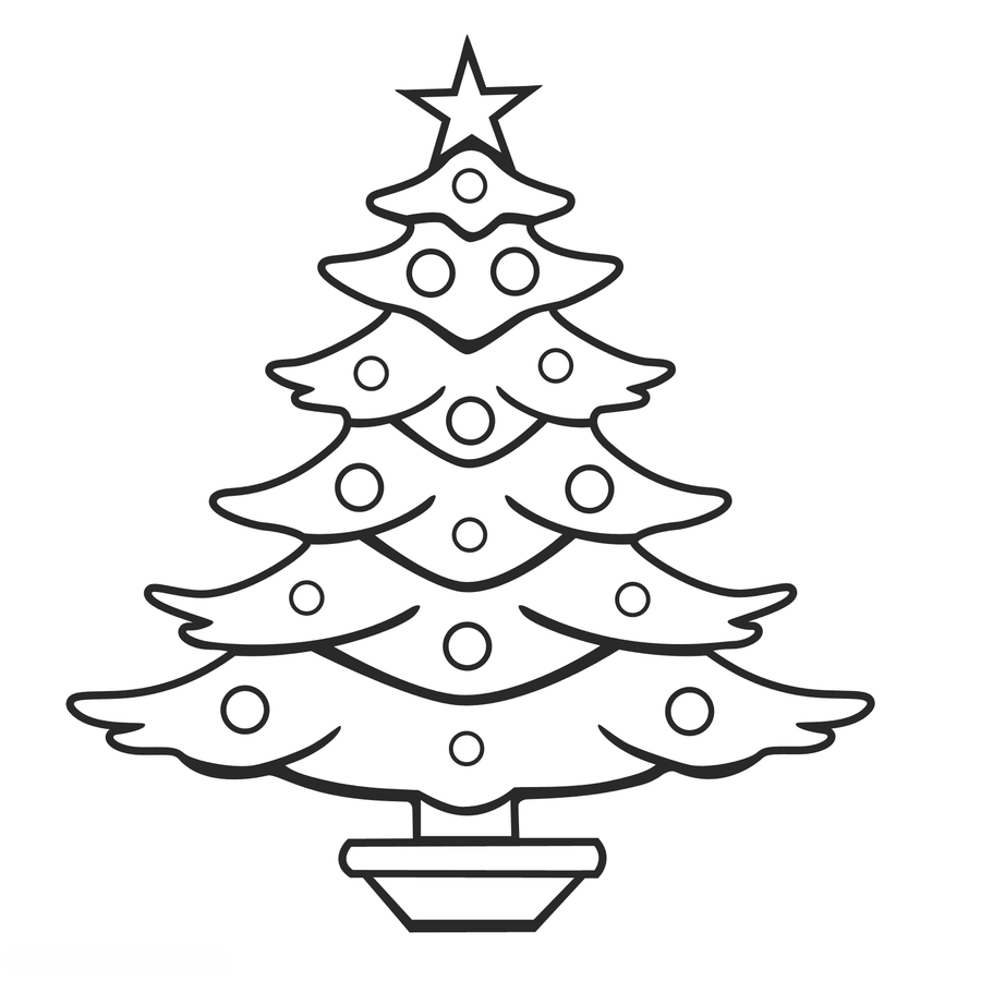 Download Christmas Tree Drawing Easy Clipart Drawing Christmas Tree