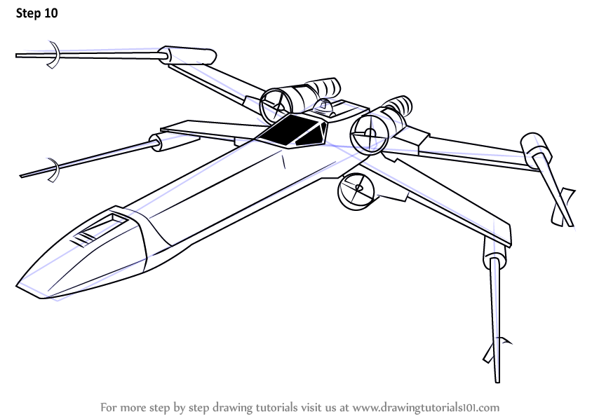 x wing coloring page clipart Star Wars: X-Wing Miniatures Game X-wing Starfighter Luke Skywalker