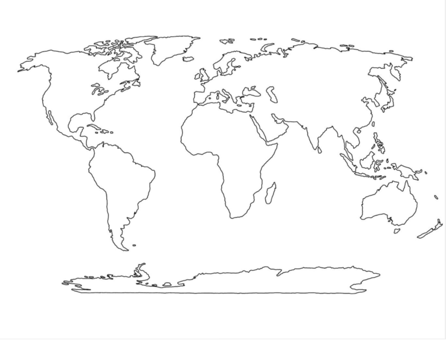 Border Design Black And White Clipart World Map Globe