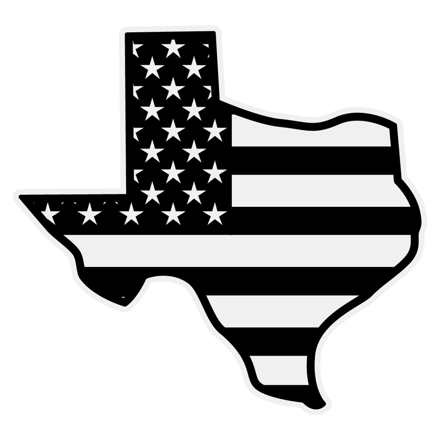 Download State Of Texas With American Flag Clipart The United States Black Leaf