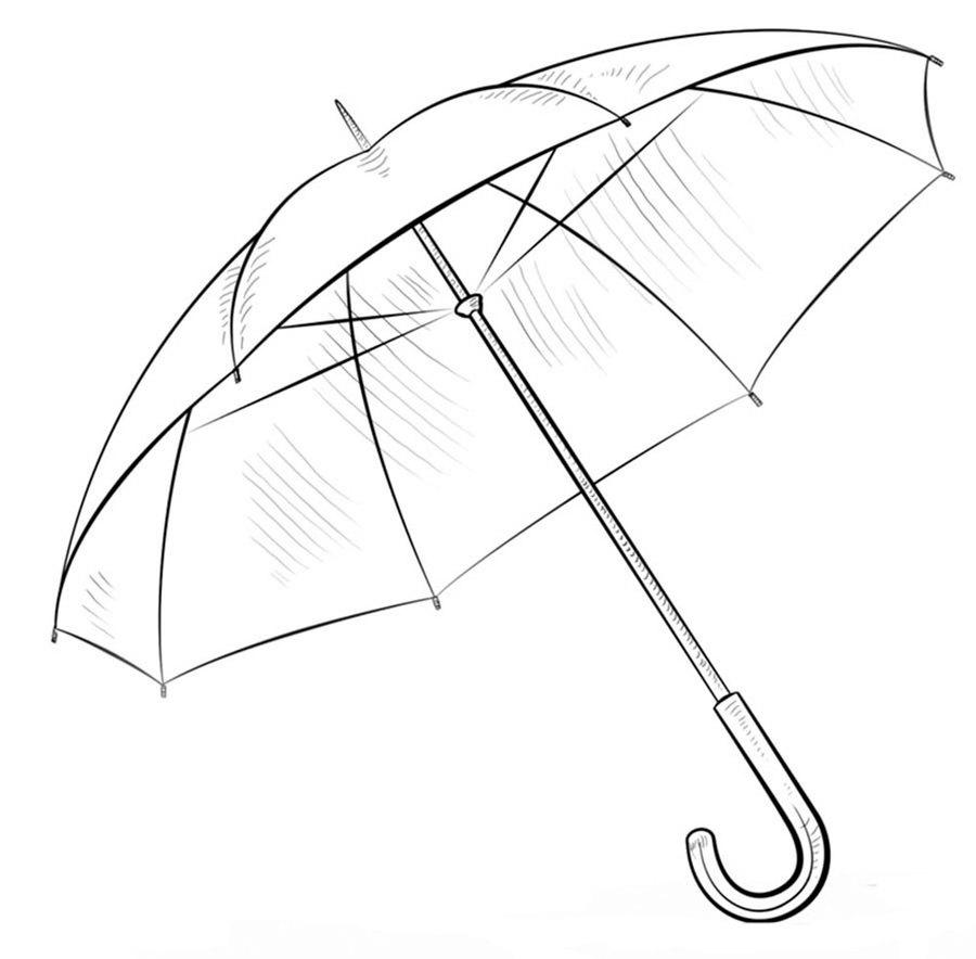 Umbrella Drawing Child Sketch Rain Line Wing Design Png