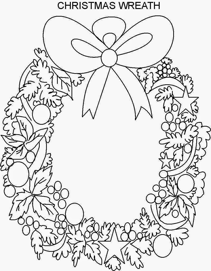 christmas wreath coloring pages printable clipart colouring pages coloring book wreath