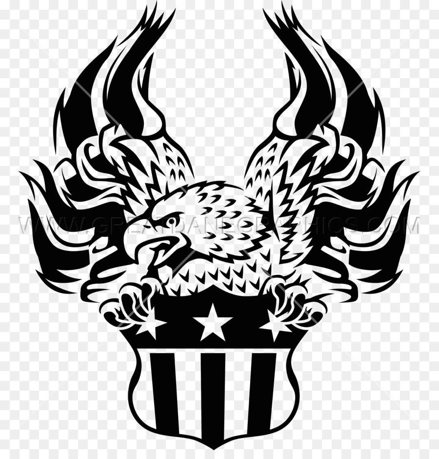 eagle flag black and white clipart Flag Eagle Clip art