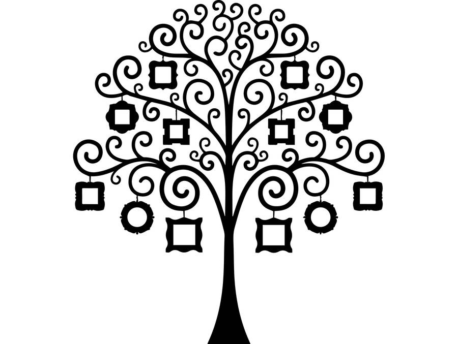 Download Leaf Family Tree Template Clipart Genealogy Clip Art