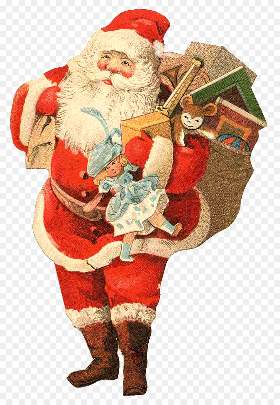 Download Merry Christmas Greeting Card Clipart Santa Claus Christmas
